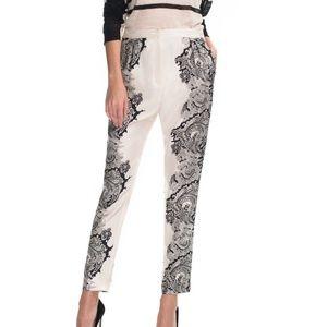 NWT Malene Birger Silk Pink Paisley Pants Sz 10